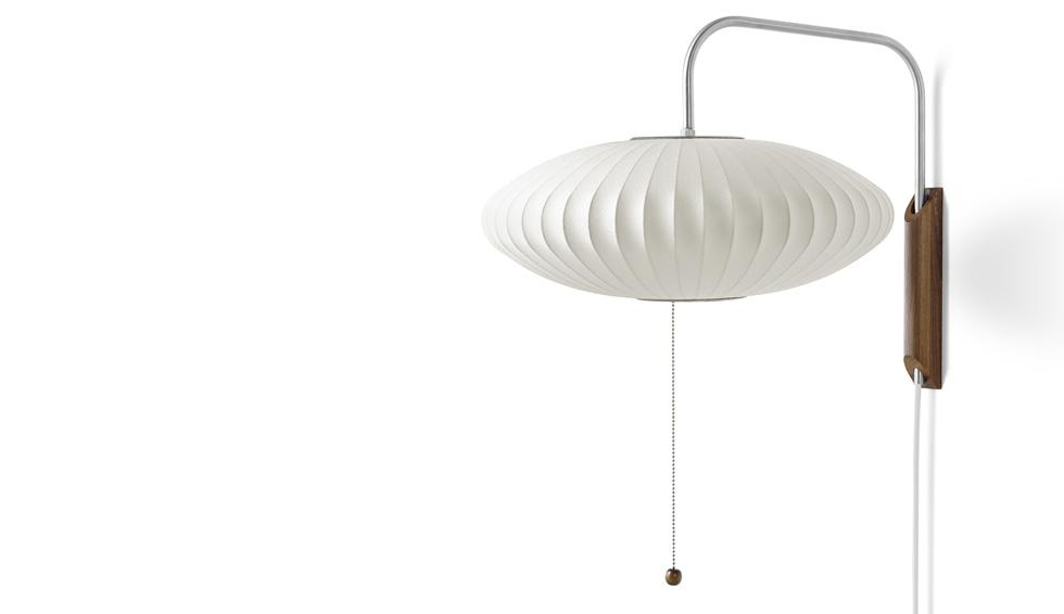 Vintage Designer Lamp from George Nelson of Product range Herman Miller Bubble Lamp. Wall Sconce with Saucer Shade